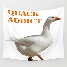 Strolling Duck Quack Addict Wall Tapestry
