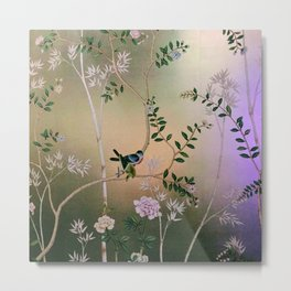 Chinoiserie Style Metal Print