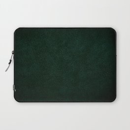 Dark green leather sheet texture abstract Laptop Sleeve