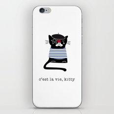 c'est la vie kitty iPhone & iPod Skin