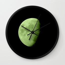 4K Dark Side of the Moon Lime Green Wall Clock