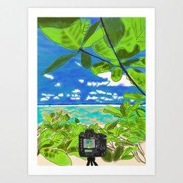 Beach photo shoot Art Print