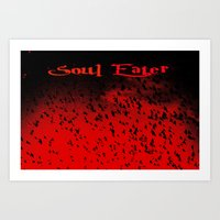 soul eater Art Prints featuring Soul Eater by Deb Adkins
