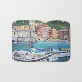 Vernazza Harbor Bath Mat