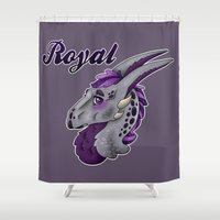 royal tenenbaums Shower Curtains featuring Royal by dewking