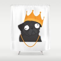 notorious Shower Curtains featuring Notorious P.U.G by Puglic Enemy