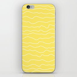 Yellow with White Squiggly Lines iPhone Skin