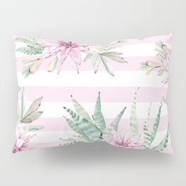 Simply Striped Cactus Desert Rose Pink Pillow Sham