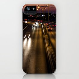 Sunset on the seaside street of Izmir (Turkey) iPhone Case