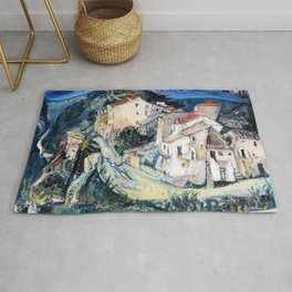 Chaim Soutine - View of Cagnes - Digital Remastered Edition Rug