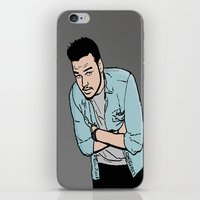 liam payne iPhone & iPod Skins featuring Liam Payne by 90's Class