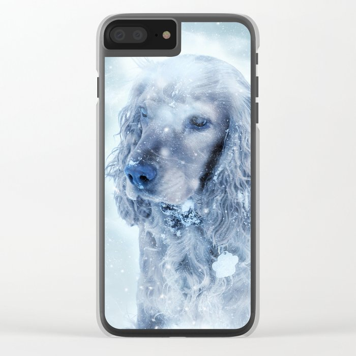 Winter Puppy Clear iPhone Case