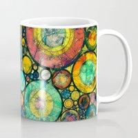 andreas preis Mugs featuring Ring Pattern 3 by Klara Acel