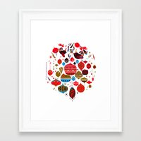 xmas Framed Art Prints featuring xmas by echo3005