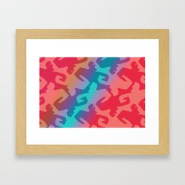 Herkules Escher red blue Framed Art Print