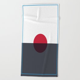 Red dot Beach Towel