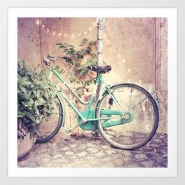 Bicycle Lights Art Print