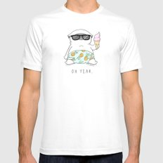 Oh Yeah X-LARGE White Mens Fitted Tee
