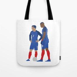 Griezmann & Pogba France Print Tote Bag