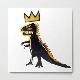 Basquiat Dinosaur King Metal Print