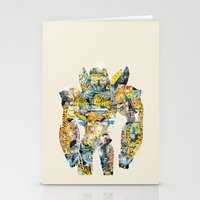 transformer Stationery Cards featuring pop art bumblebee by bri.b