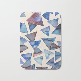 Triangle pattern watercolor painting Bath Mat