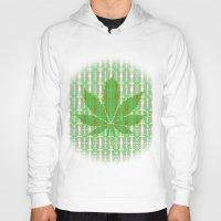 marijuana Hoodies featuring Marijuana Leaf by Trusty Russ Tees