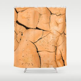 Cracked Terrain in Morocco Shower Curtain
