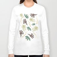 leaf Long Sleeve T-shirts featuring leaf by Ceren Aksu Dikenci