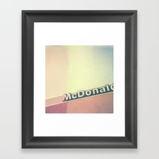 McDonalds Polaroid Framed Art Print