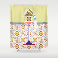 bread Shower Curtains featuring Ancient Bread by Paco Dozier