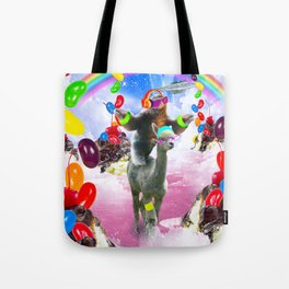 Sloth Riding Alpaca With Sundae And Jelly Beans Tote Bag