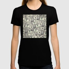 Collage of Currency Graphic T-shirt