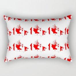 flag of canada 4-canadian,canadien,canadiense,ottawa,toronto,montreal. Rectangular Pillow