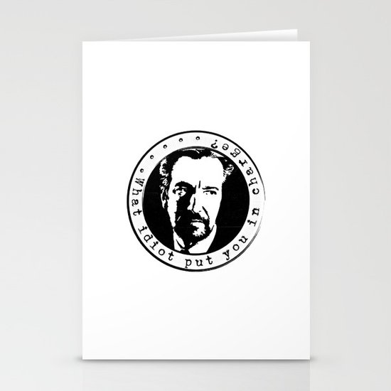 What idiot put you in charge? Stationery Cards