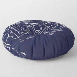 Blueprint Floor Pillow