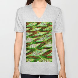 Colorful geometric modern abstract Unisex V-Neck