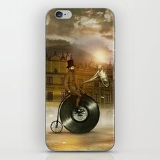 Music Man in the City, by Eric Fan and Viviana González iPhone Skin