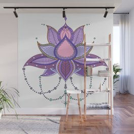 Ethnic flower lotus mandala ornament Wall Mural
