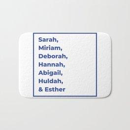 Jewish Female Prophets - Biblical Prophetesses Bath Mat