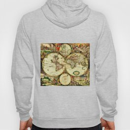 Ancient World Map 1689 Hoody