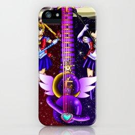 Fusion Sailor Moon Guitar #6 - Sailor Moon & Sailor Saturn iPhone Case