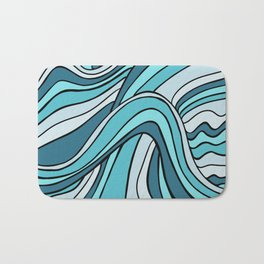 Ocean Waves Of Chaos Bath Mat