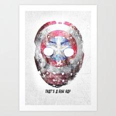 Yankee Mask Art Print