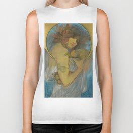 """Alphonse Mucha """"Study for a poster - Fruit"""" Biker Tank"""