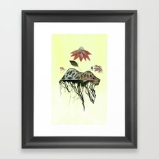 Uprooted Flowers Framed Art Print