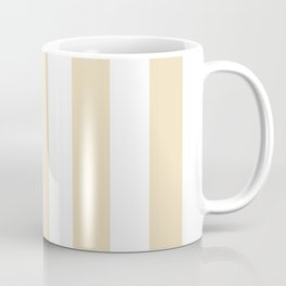 Dutch white pink - solid color - white vertical lines pattern Coffee Mug