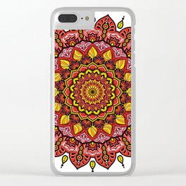 Mandala Passione Clear iPhone Case
