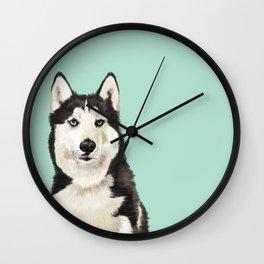 Husky Wall Clock