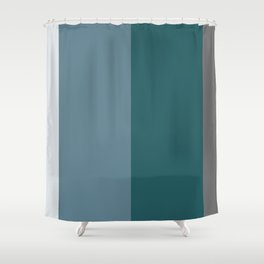 Parable to Behr Blueprint Color of the Year and Accent Colors Vertical Stripes 2 Shower Curtain